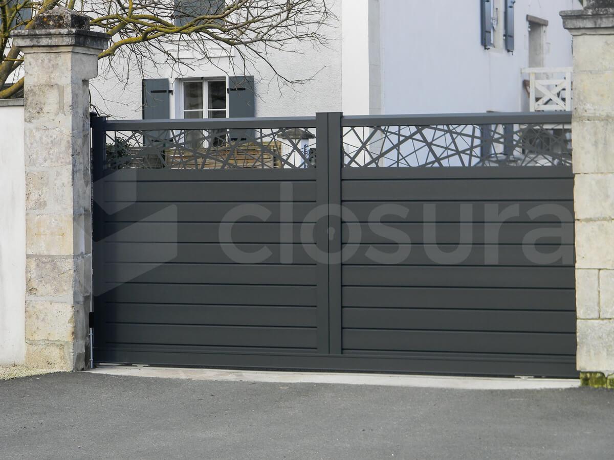 fabricant portails aluminium closura gamme Line