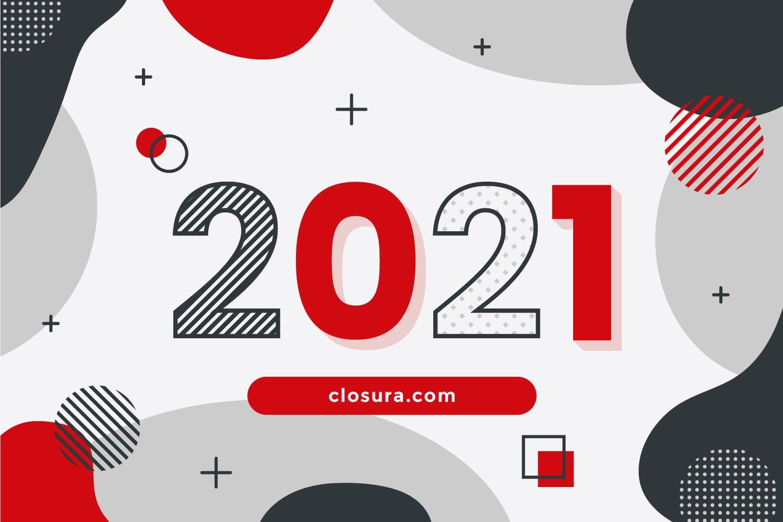 Visuel nouvelle annee voeux Closura 2021